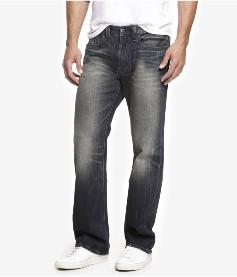 A regular straight leg with intentional fading to the denim at typical  stress points and a 3D crease effect to the thighs. A metal button fly with  five belt ... 4ac1a1db4